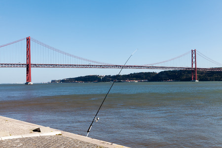 the tagus: Tagus river and bridge of 25th april, Lisbon, Portugal.
