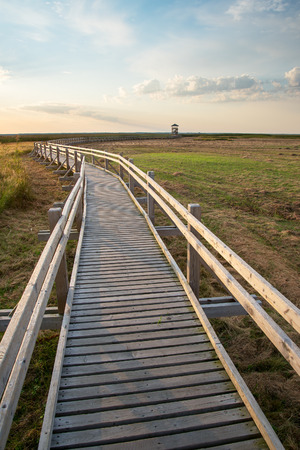 Footbridge: Footbridge at Liepaja lake, Latvia.