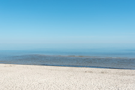 peacefull: Clear and  blue sky over gulf of Riga, Baltic sea.