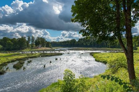rumba: Waterfall Ventas rumba, Kuldiga, Latvia.