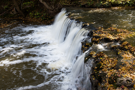 small river: Waterfall on small river Ivande, Latvia.