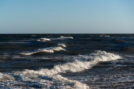 turbulence: Windy day in Baltic sea.
