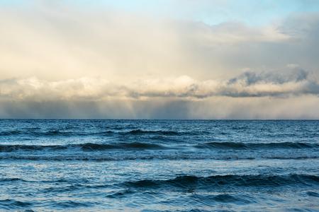windy day: Windy day in gulf of riga, Baltic sea.