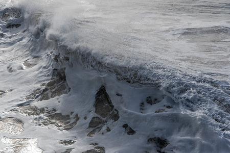 atlantic: Splashing atlantic wave. Stock Photo