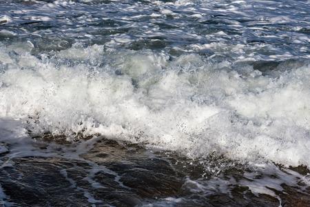 atlantic: Splashing atlantic wave at coast. Stock Photo