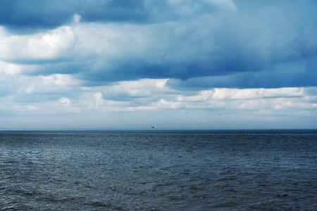 restless: Blue and dark gulf of Riga, Baltic sea.