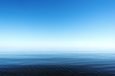 restful: Restful summer day by gulf of Riga; Baltic sea.