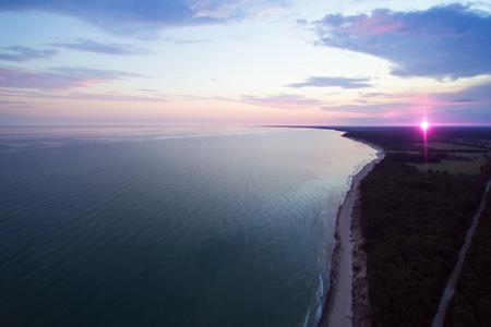 solstice: Sunrise of summer solstice, Baltic sea coast, Latvia. Stock Photo