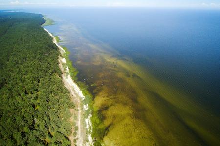 riga: Aerial view of Riga gulf, Baltic sea.