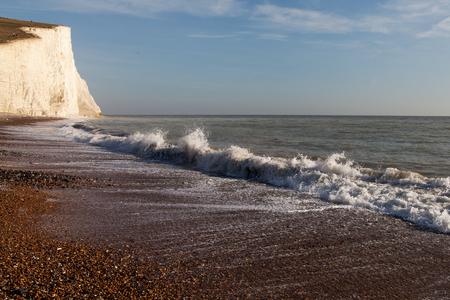 Seven Sisters chalk cliffs, England, United Kingdom.