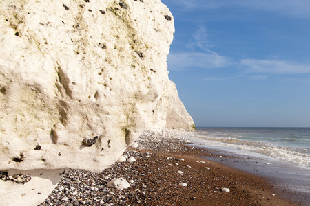 seven sisters: Seven Sisters chalk cliffs, England, United Kingdom.
