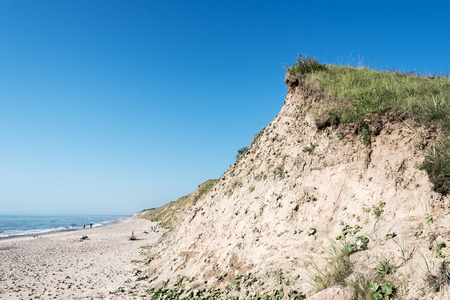 Steep Baltic sea coast at Jurkalne, Latvia.