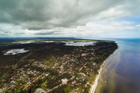 Clody summer day at Gulf Of Riga, Baltic sea, Latvia.