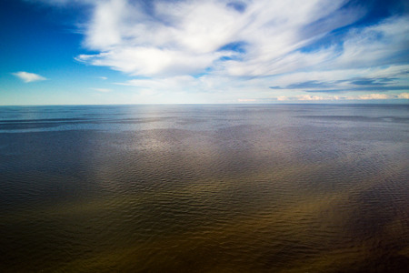 Aerial view of gulf of Riga, Baltic sea. Stock Photo