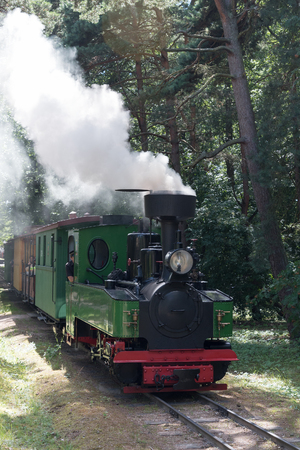 narrow gauge railroads: Narrow gauge railway,Ventspils, Latvia.