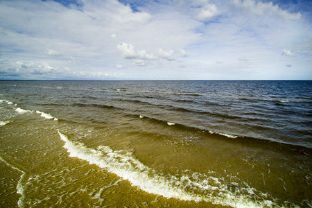 the gulf: Aftrnoon by gulf of Riga, Baltic sea. Stock Photo