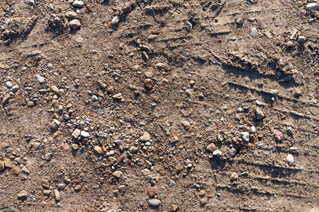 road surface: Surface of gravel country road. Stock Photo