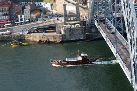 porto: Duoro river in Porto, Portugal.