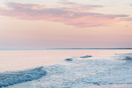 Summer solstice morning at Baltic sea, Latvian coast.