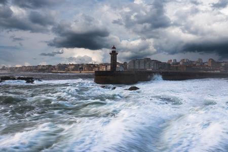 Atlantic coast at Porto. Portugal. Stock Photo