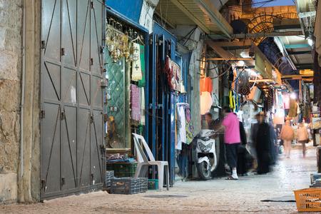jewish home: Shops in Jerusalem old city, Israel.