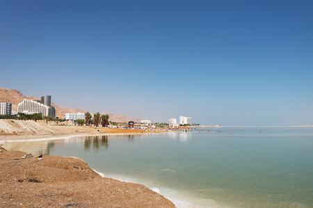 Swimers in dead sea, Ein Bokek, Israel.