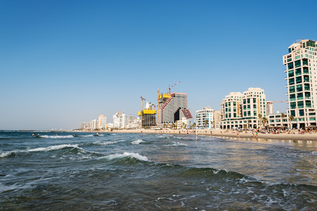 Seaside of Tel Aviv, Israel.