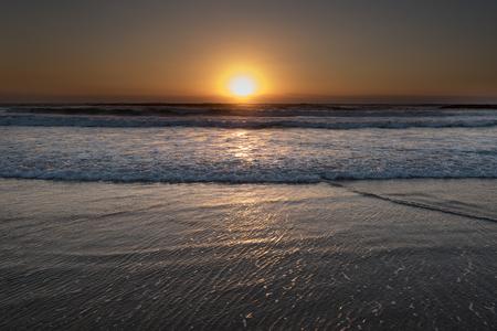 Sunset in Mediterranean sea at Tel Aviv , Israel.