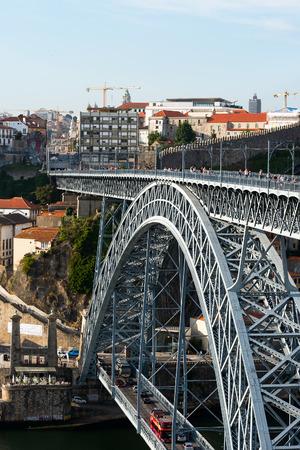 Porto bridge, Portugal. Editorial