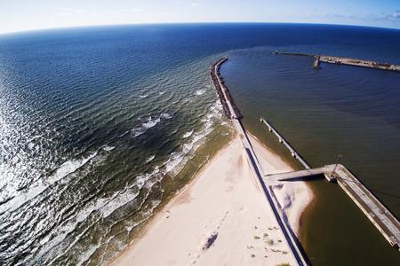 estuary: Estuary of river Venta in Baltic sea, Latvia.