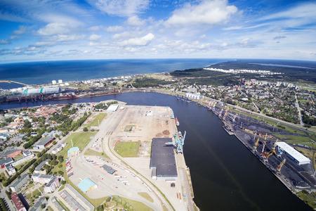 Harbor city Ventspils, Latvia.