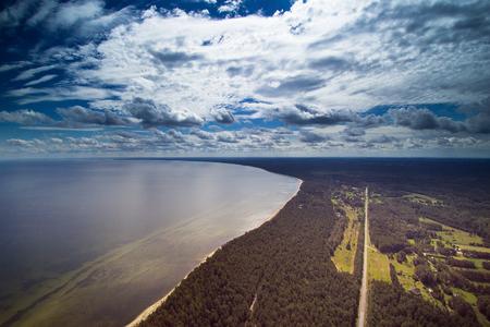latvia: Gulf of Riga coast, Baltic sea .