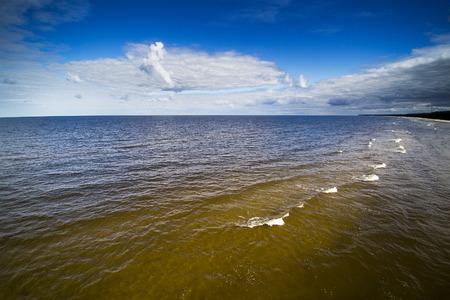 Gulf of Riga coast, Baltic sea .