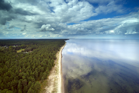 Gulf of Riga coast near Engure, Latvia.