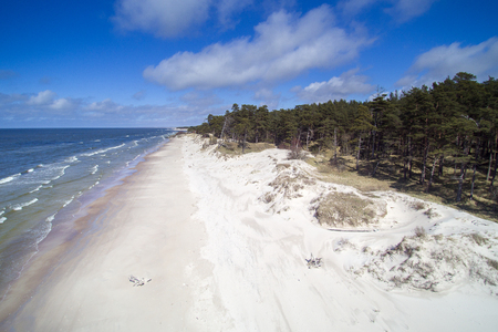 Wild Baltic sea coast, Latvia. Stock Photo
