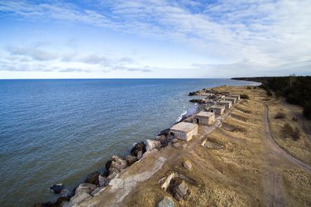 Abandoned fortificattion on Baltic sea coast, Liepaja, Latvia.