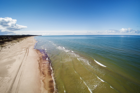 Baltic sea coast at Jurmalciems, Latvia.
