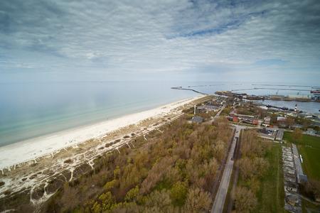 Aerial view of Liepaja city and area, Latvia.