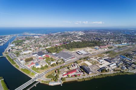 residential area: Liepaja city aerial view, Latvia.
