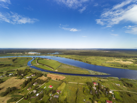 Lielupe river middle reaches, Latvia.