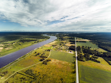 reaches: Lielupe river middle reaches, Latvia.