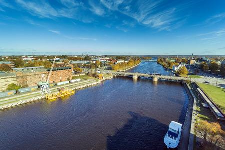 Trade canal, Liepaja, Latvia.