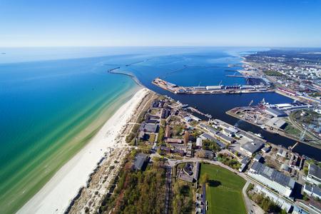 Liepaja city at Baltic sea, Latvia.