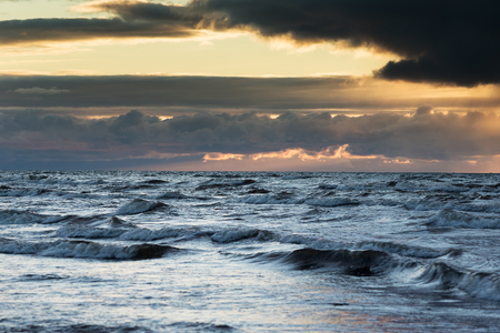 Baltic sea in sunset time.