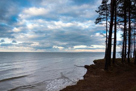 Erosion of Baltic sea coast, Latvia. Stock Photo
