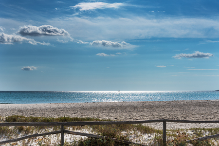 La Cinta beach next to San Todoro city in Sardinia, Italy.