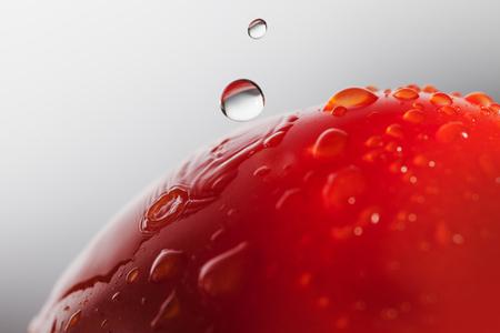 Water drops on tomatoe.
