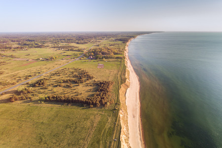 Steep coast of Baltic sea, western Latvia.