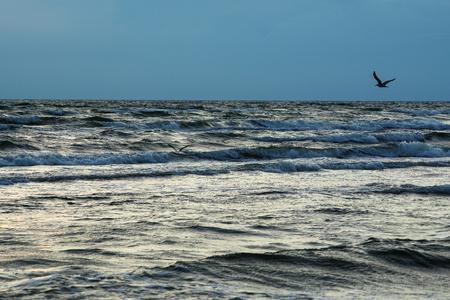 Evening on Baltic sea, Liepaja, Latvia. Foto de archivo
