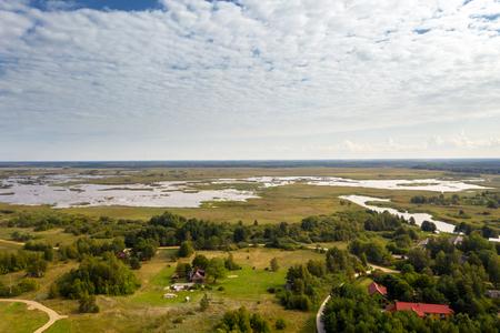Pape lake at Baltic sea coast, Latvia. Reklamní fotografie